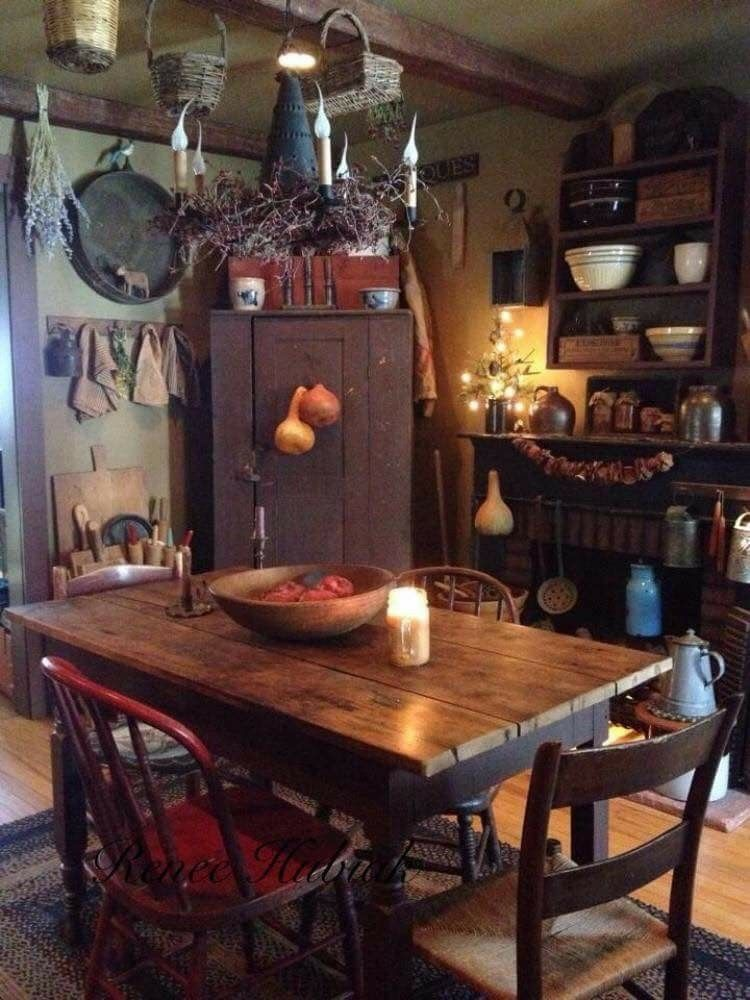 superior Primitive Decor Kitchen Part - 15: Old fashioned kitchens :)