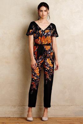 Enbee Silk Jumpsuit #Anthropologie