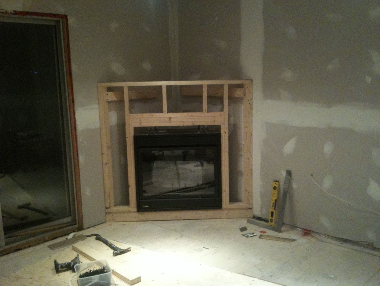 How To Make A Corner Fireplace Surround Google Search