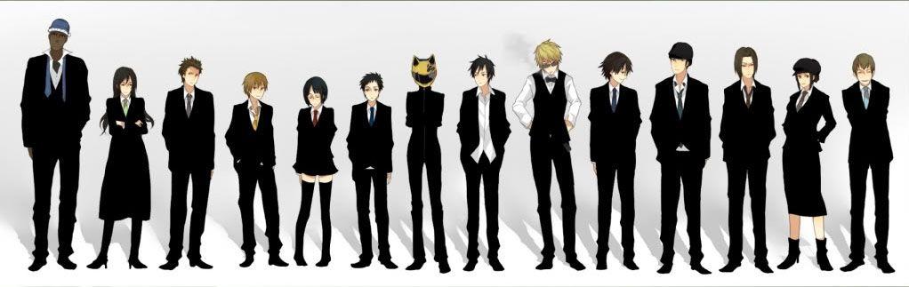 Durarara Entire Cast Durarara Durarara Wallpaper Anime English Dubbed