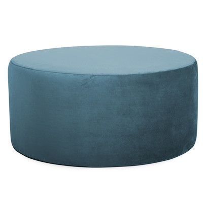 universal round ottoman color mojo turquoise