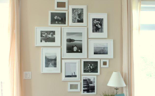 fotowand gestalten oder wie man mit familienbildern dekoriert bildwand fotowand fotos und w nde. Black Bedroom Furniture Sets. Home Design Ideas