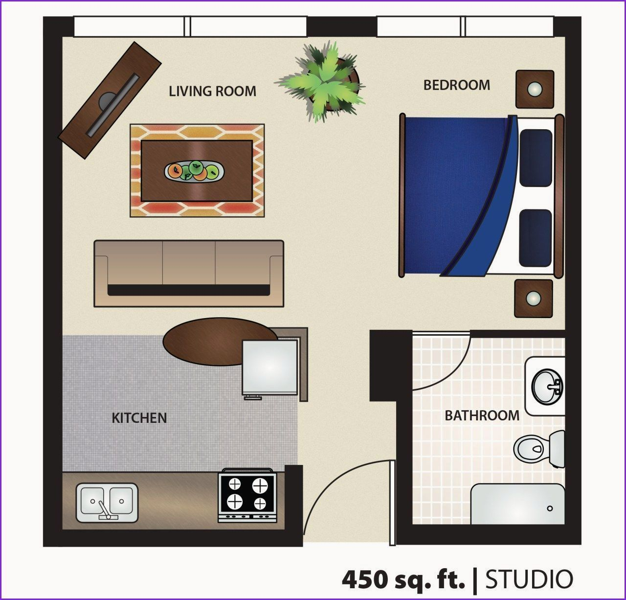 Awesome 500 Sq Ft Apartment Floor Plan Apartment Awesome Floor Plan In 2020 Studio Floor Plans Studio Apartment Floor Plans Apartment Floor Plan
