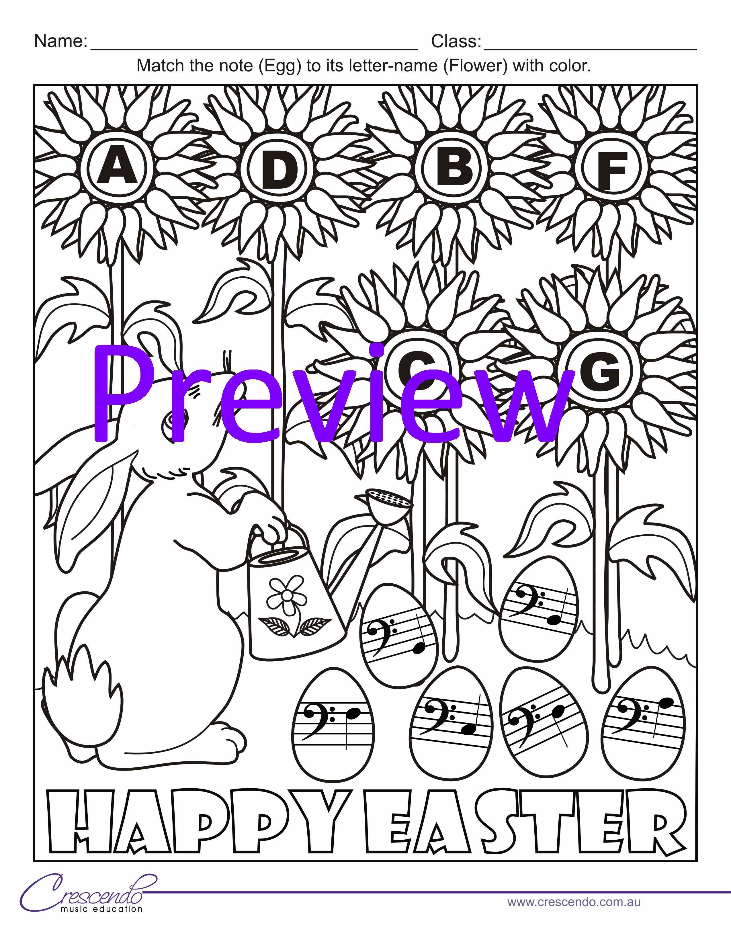 Book colour names - Easter Colouring Book Colour By Note