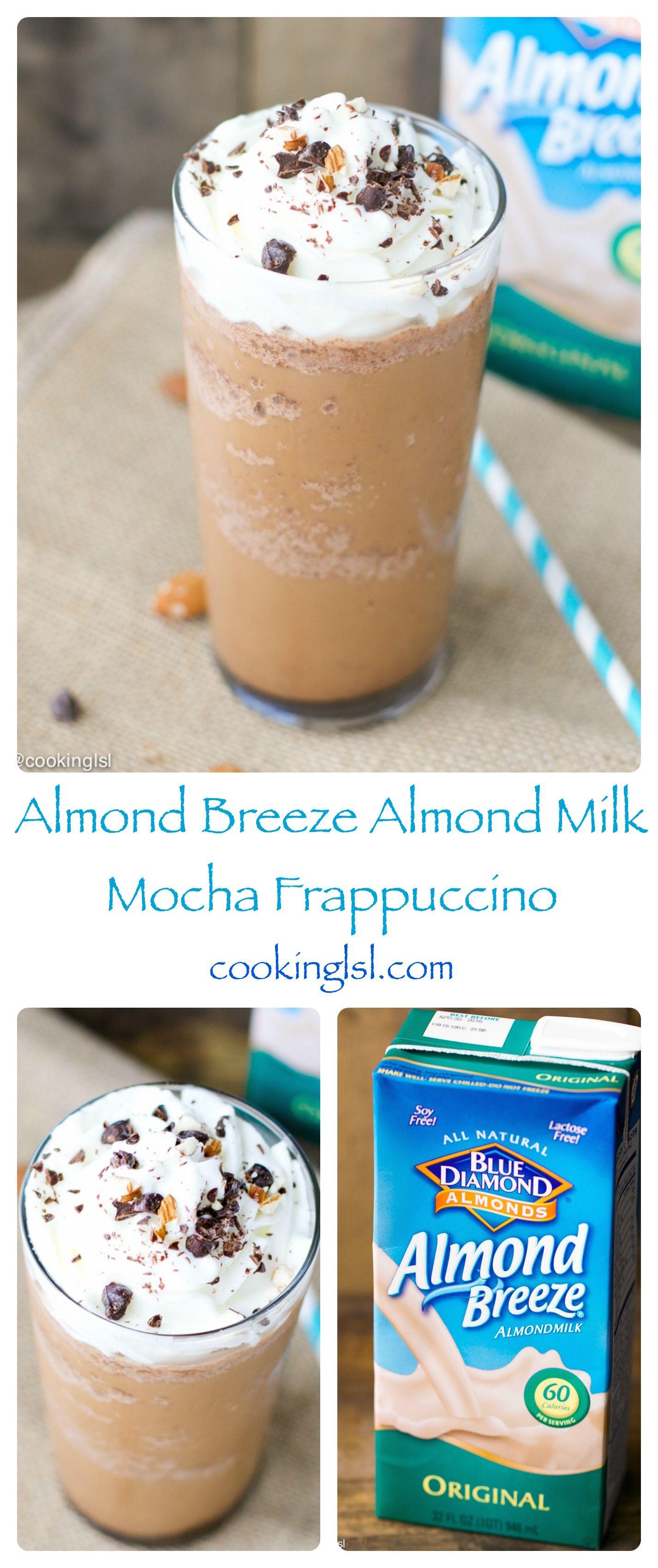 Almond Milk Mocha Frappuccino Mocha frappuccino, Almond