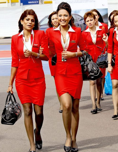 Asain air stewardess sexy legs