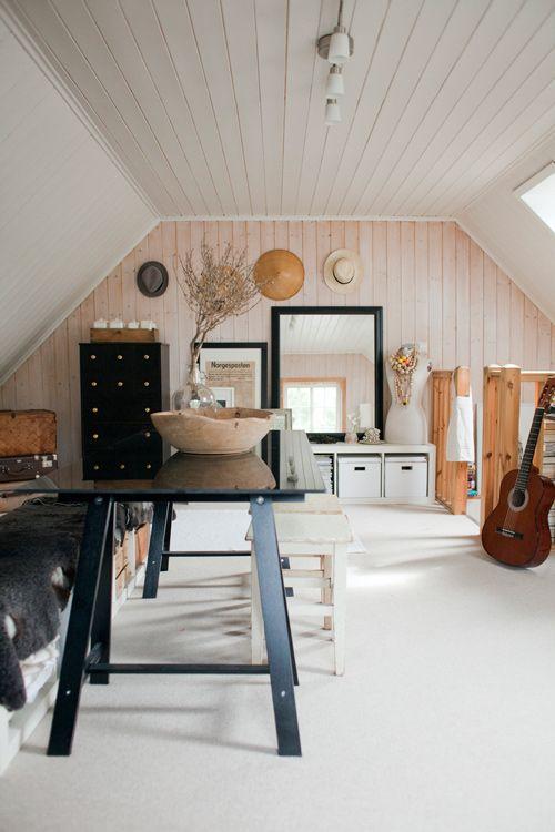 white wood + black (Marte Marie Forsberg's home, Photo: Britt Chudleigh)