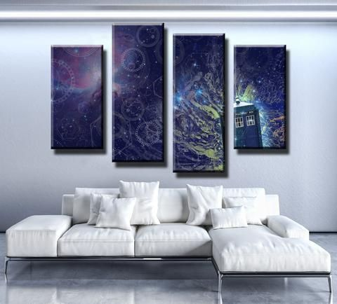 Doctor Who Abstract Canvas Set Customized Canvas Art Canvas Wall Decor Wall Canvas