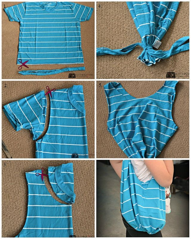 Diy No Sew Handbag Out Of Your Old T Shirt Alldaychic Diy Clothes T Shirt Diy Diy Clothes Refashion
