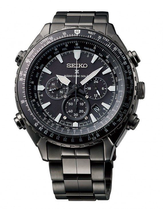Seiko Prospex Radio Sync Solar World Time Chrono - SSG003 d89bd31e973
