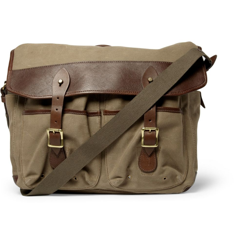 J.Crew Beaumont Waxed-Canvas Messenger Bag | MR PORTER | Wolfsen ...