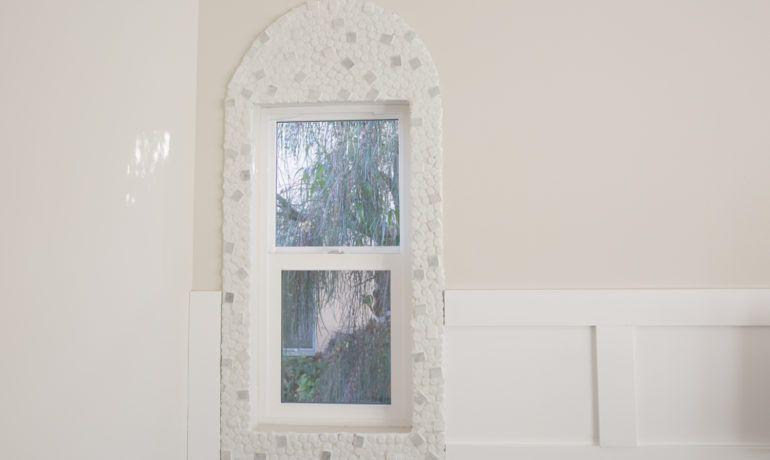 DIY Mosaic Arched Window Frame | Window frames, Arch and Mosaics