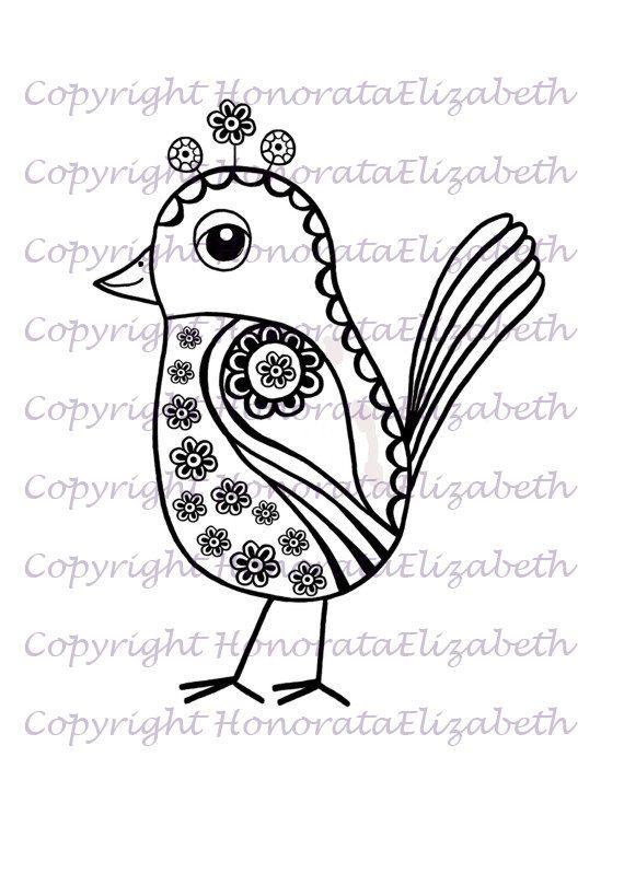 INSTANT DIGITAL DOWNLOAD - Bird Digital Stamp - Clip Art Digital Download - Bird Download Image - 2 Files ( 1 jpeg and 1 png )
