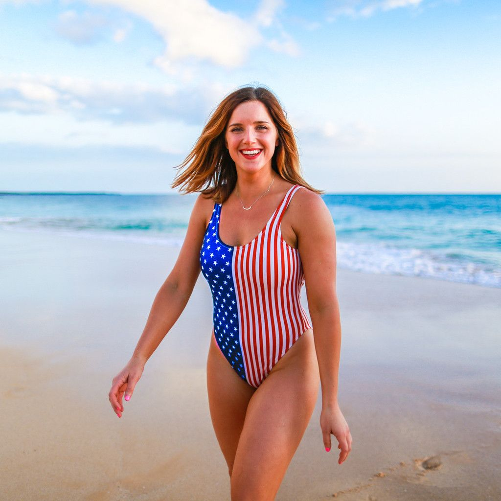 American Woman | Chubbies Women's American Flag Swimsuit