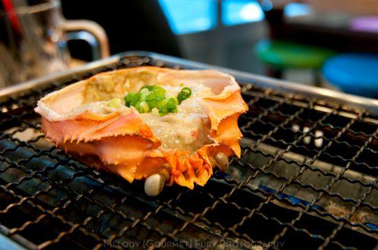 Grilled Crab Miso Kani At Late Night Restaurants In Shinjuku Tokyo