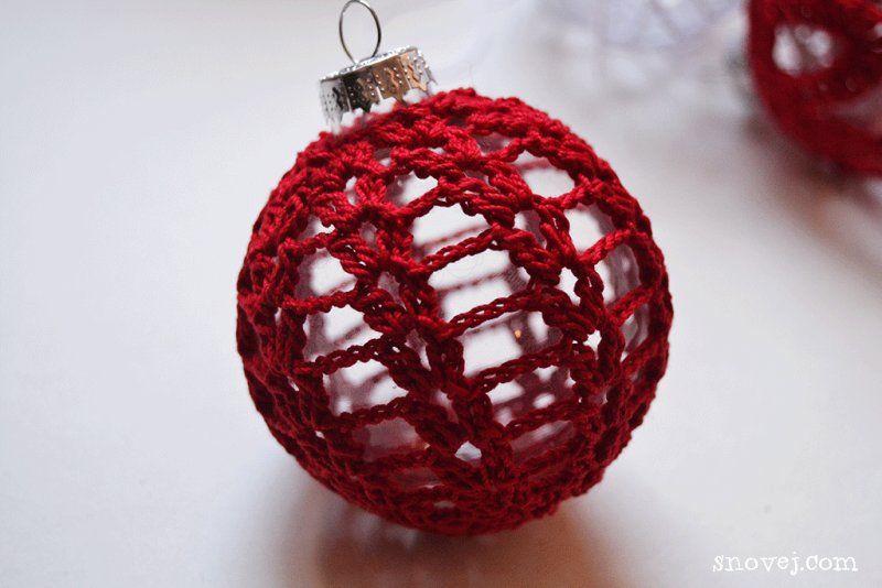 Crochet Christmas Balls - Patterns Free Ravelry | Crochet, knitting ...