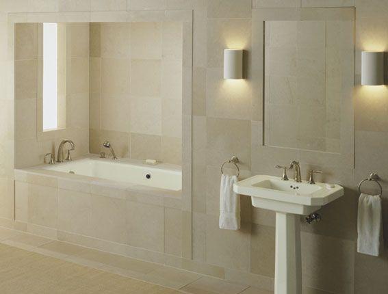 Naturel badkamer in zandkleur - Interieur - Badkamer | Pinterest ...