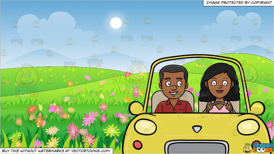 A Black Woman Driving Her Boyfriend Around The Neighborhood And A Beautiful Field Of Wild Flowers Background In 2021 Flower Backgrounds Wild Flowers Black African American
