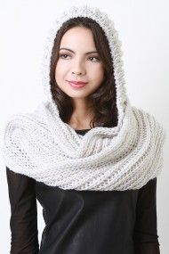 Sweet and Warm Hooded Scarf