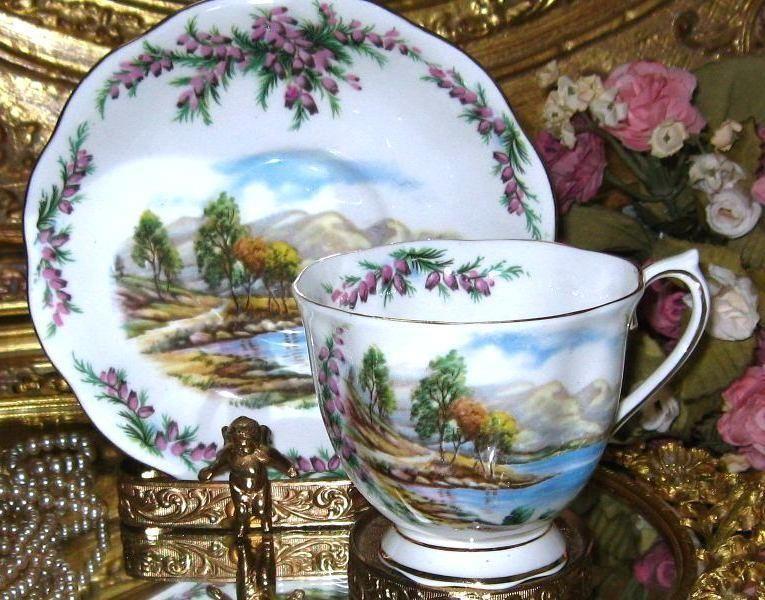 Royal Albert BRITISH SONGS SERIES ROAD TO THE ISLE Tea Cup and Saucer Set #RoyalAlbertEngland