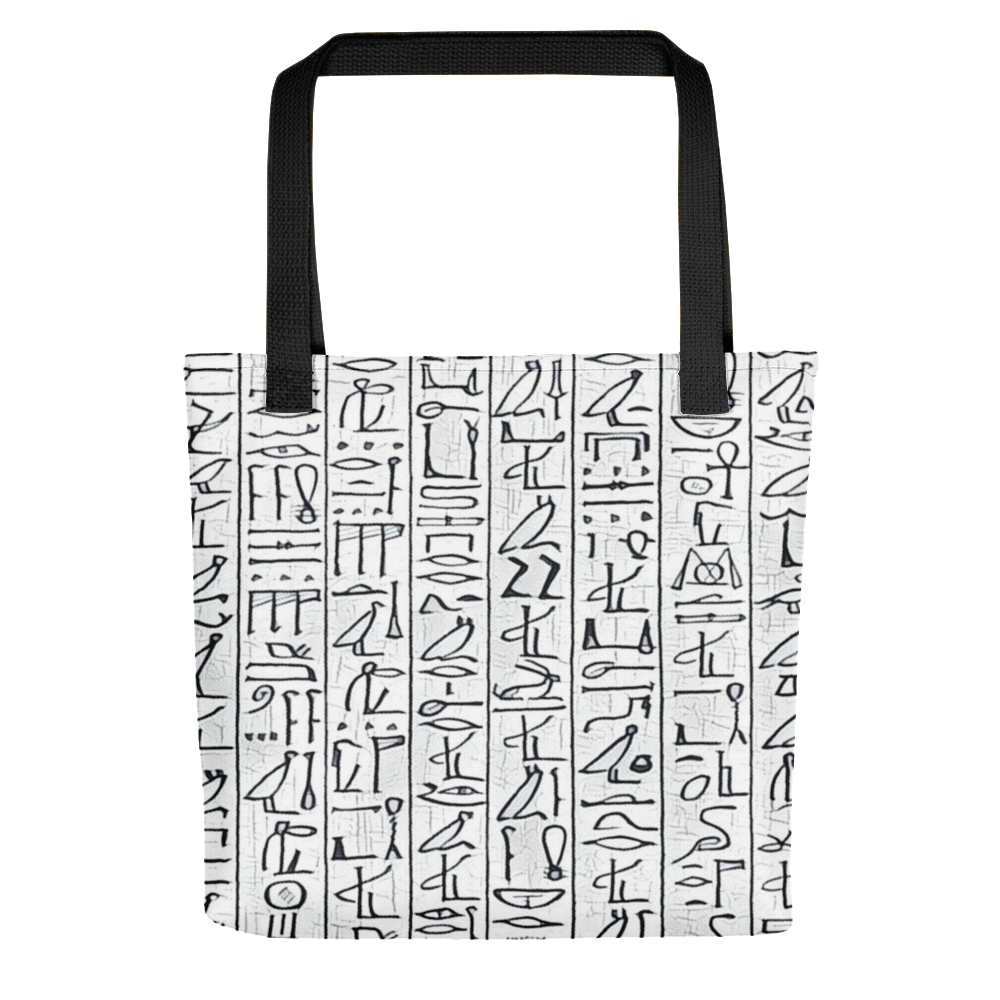 8d09937407d3 Egyptian Hieroglyphics White Black Tote bag in 2018