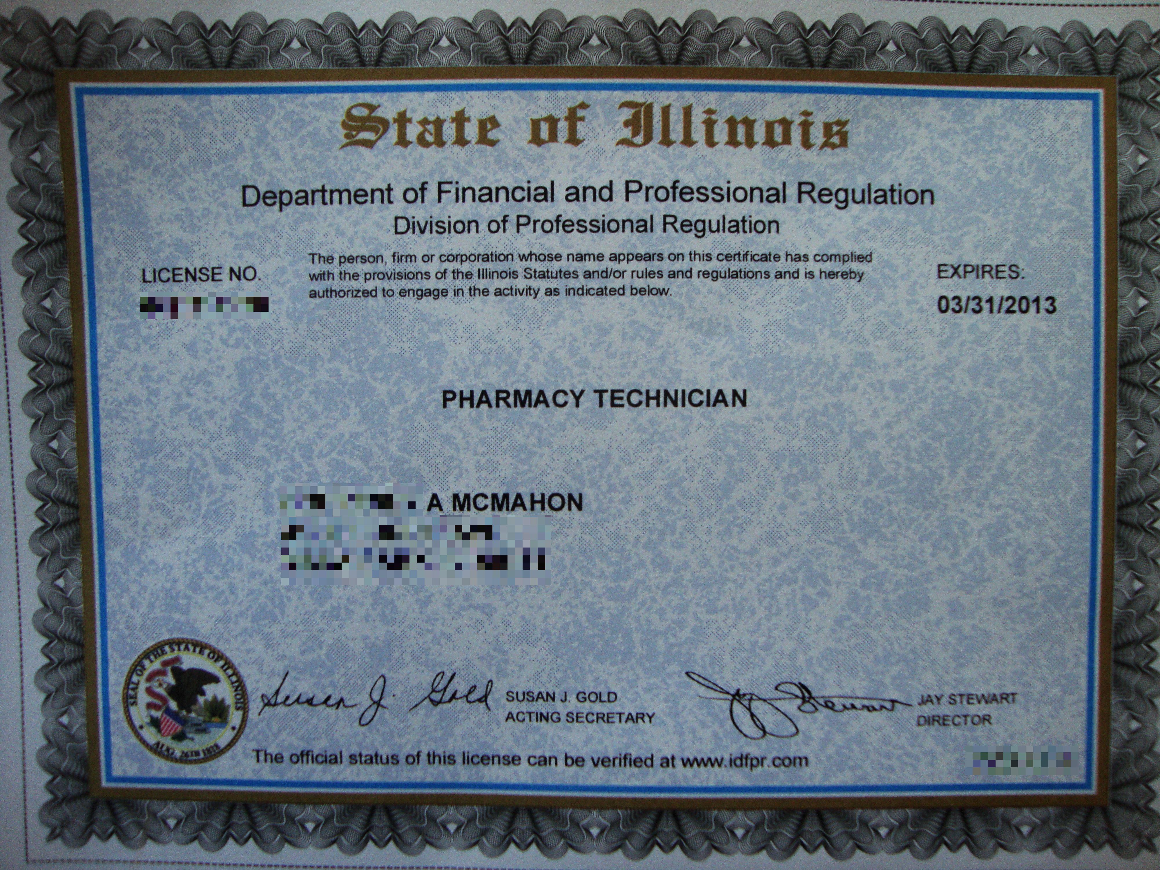 I Got My Pharmacy Technician License