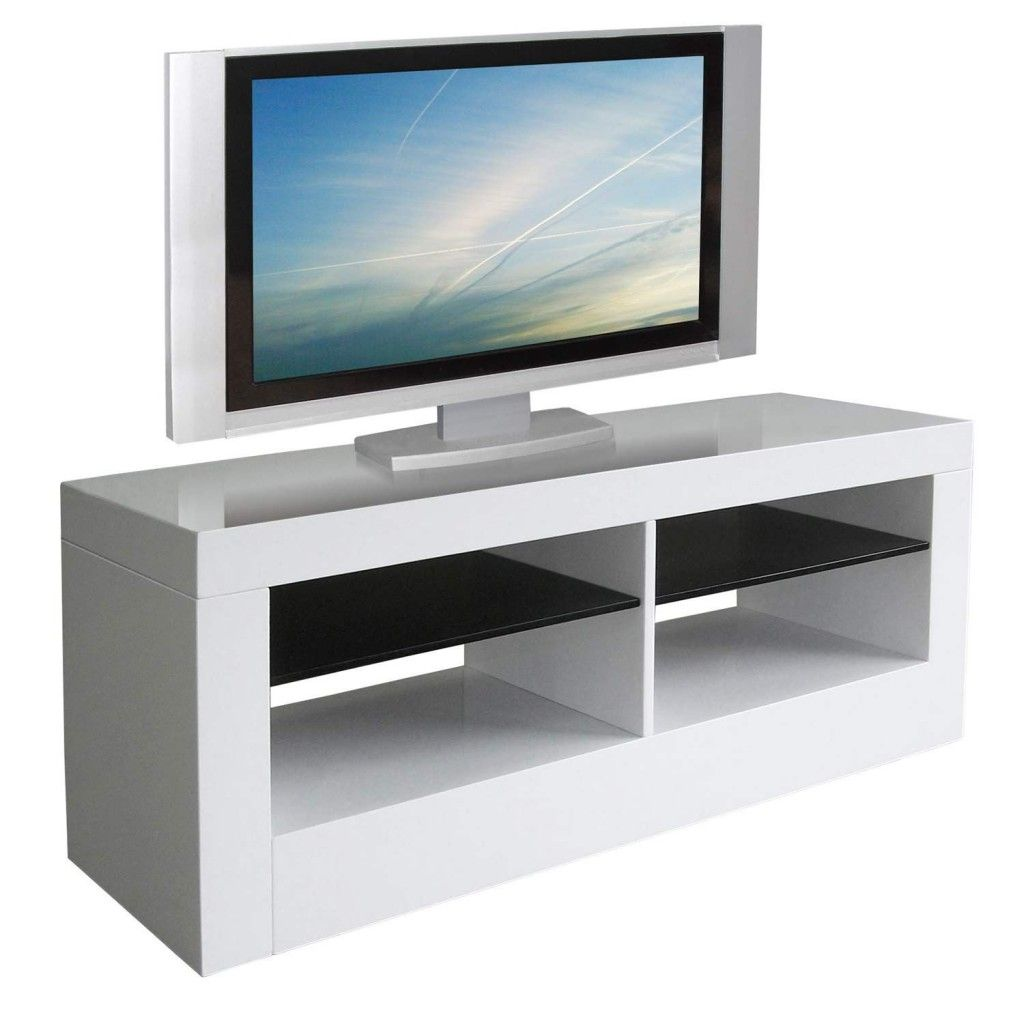 Tonnant Meuble Tv Haut Blanc Laqu D Coration Fran Aise  # Meuble Tv Haut Blanc Laque