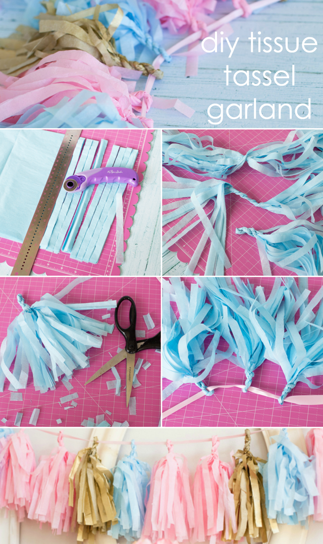 DIY Tissue Tassel Garland Diy tassel garland, Diy