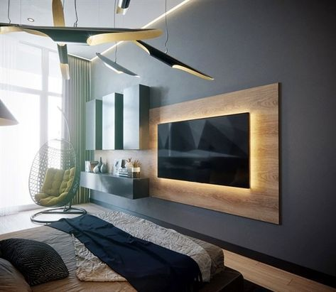 27 Ideas Living Room Tv Wall Design Hidden Tv For 2019 Tv Wall Panel Bedroom Tv Wall Tv In Bedroom