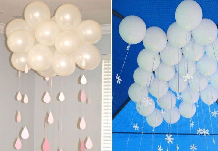 ideas-creativas-para-decorar-globos-infantiles-lluvia Decorar con