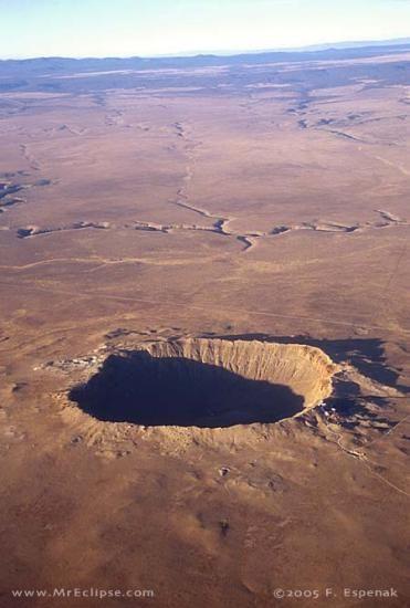 Meteor Crater Arizona We flew over this crazy huge