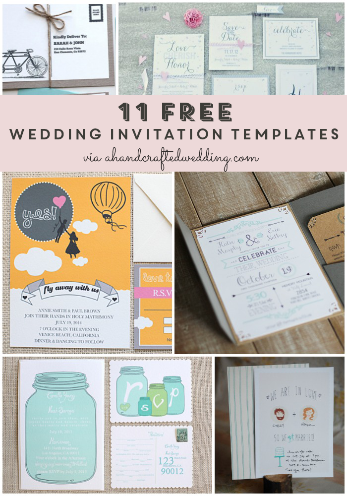 Invitation Templates For Free Glamorous Free Wedding Invitation Templates  Free Printable Wedding .