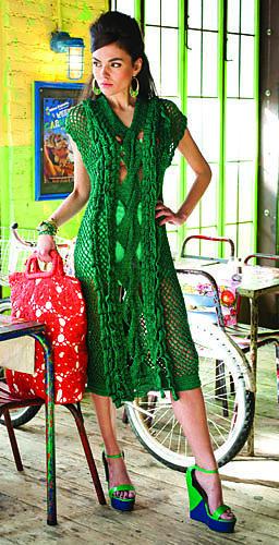 : #10 Mesh Stitch Dress pattern by Devin Cole