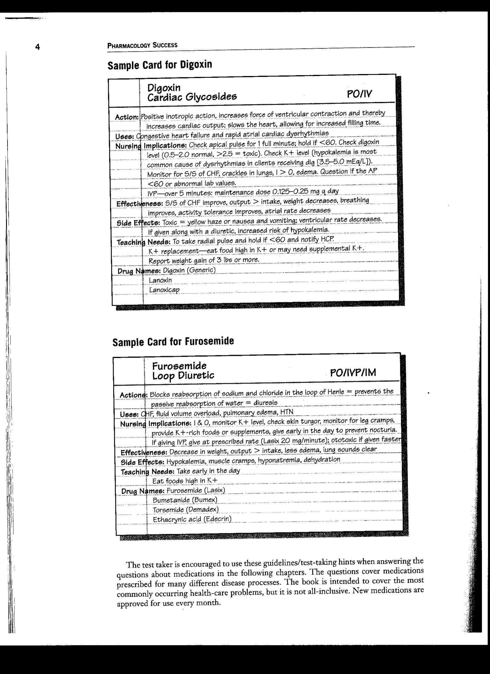 Drug Nursing Students Pharmacology Worksheet
