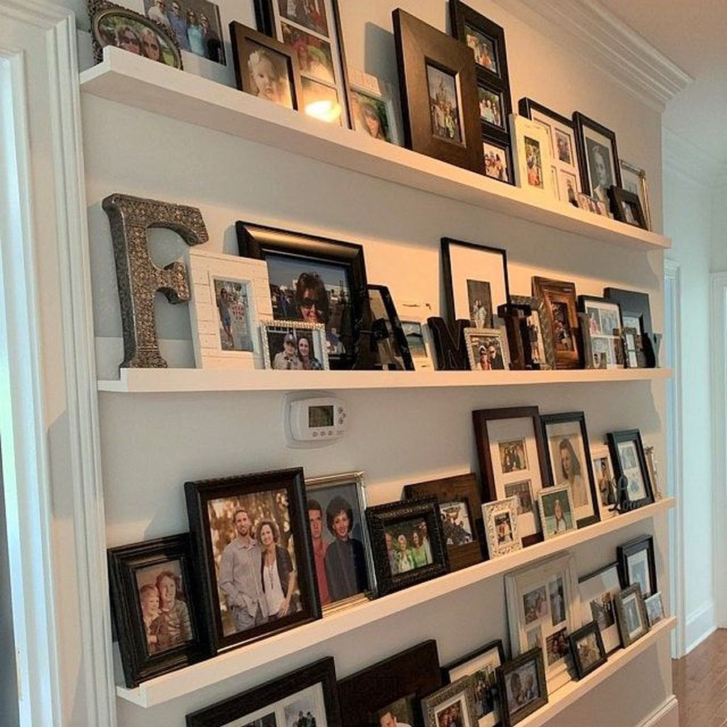 35 Stunning Floating Shelves For Living Room Decor Ideas In 2020 Picture Frame Shelves Home Photo Shelf