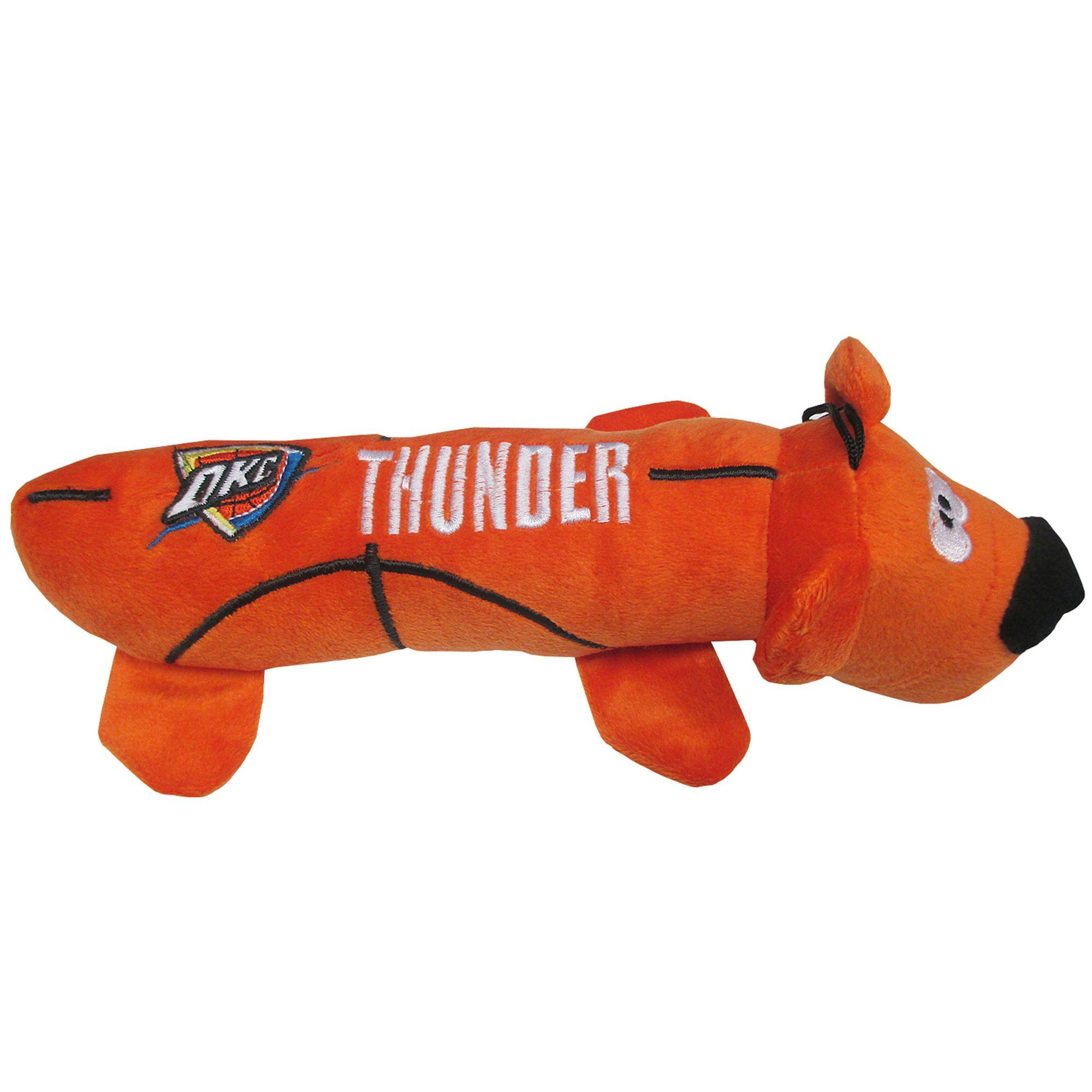 Pets First Oklahoma City Thunder Nba Plush Bear Tube Toy For Dogs Large Pets Dog Toys Wild Bird Food