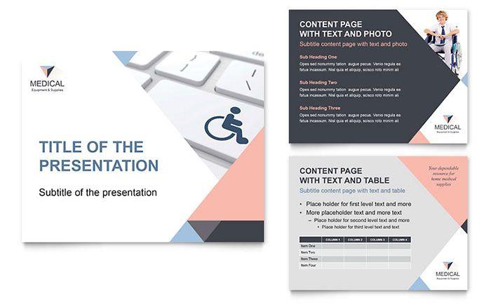 Home medical equipment powerpoint presentation design template by home medical equipment powerpoint presentation design template by stocklayouts toneelgroepblik Images
