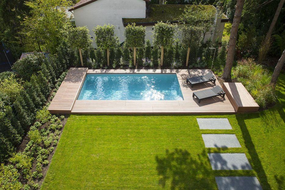 Interessant wunderbare Dekoration pool mit wasserfall die