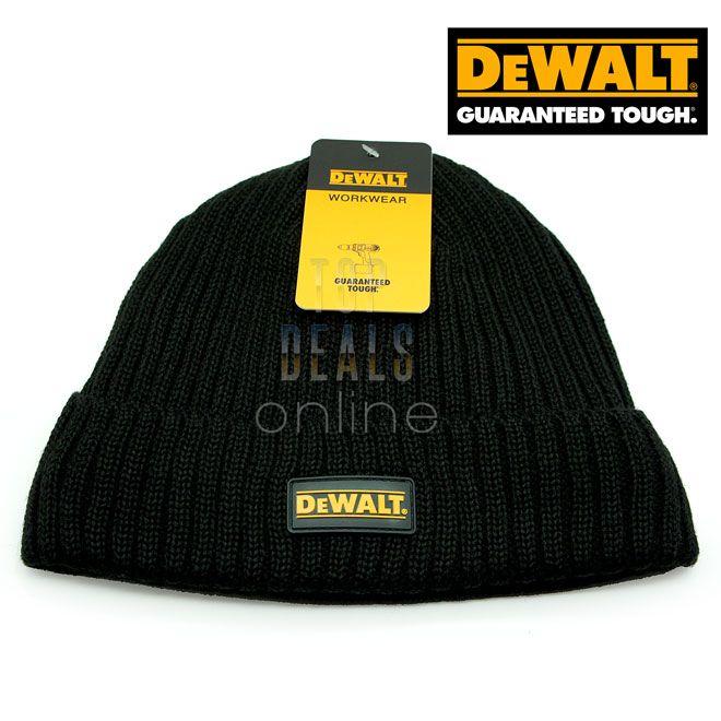 Dewalt Knitted Beanie Hat in Grey