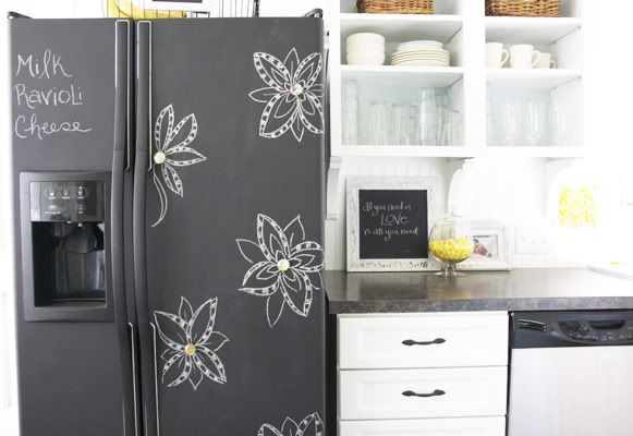 Under The Table And Dreaming Chalkboard Paint Ideas Inspirations For Kitchen Walls Fridge Frames Cabinets Doors More