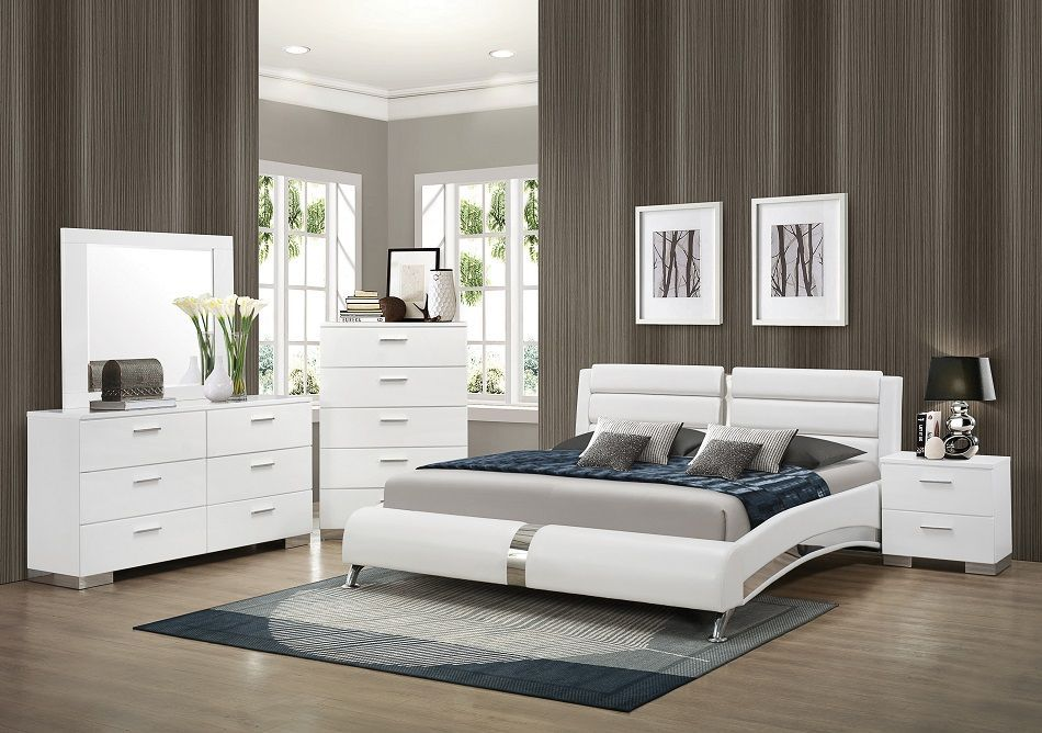 Felicity Collection 40 Bedroom Set In 40 Yasser Cheap Mesmerizing White Modern Bedroom Decor Collection