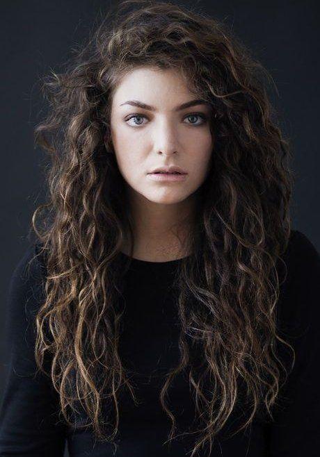 Lorde Peinado Rizado Natural Largo Cabello Cabello Pelo