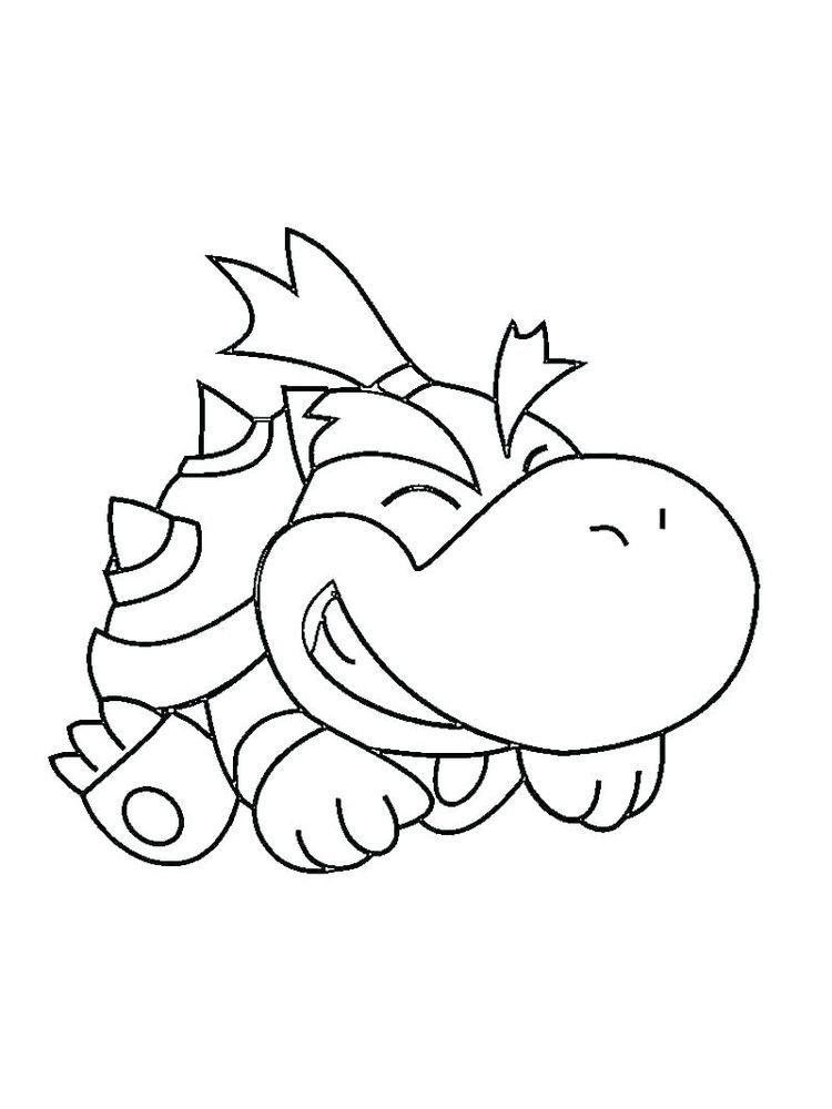 Dry Bowser Coloring Pages Bowser Is A Villain Character In The