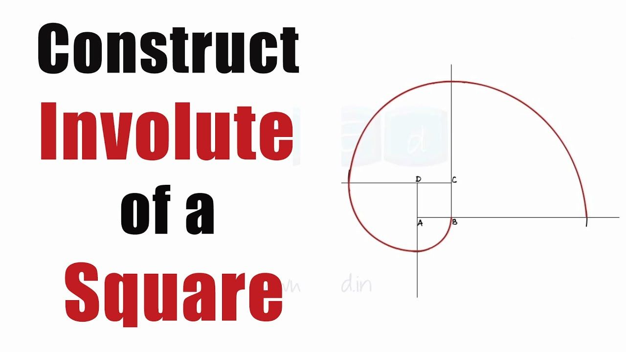 Draw An Involute Of A Square Easy Steps Engineering Curves Enginee Easy Step Curves Square