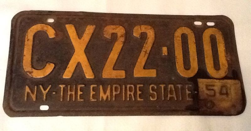 195354 new york state license plate sold 1499 license