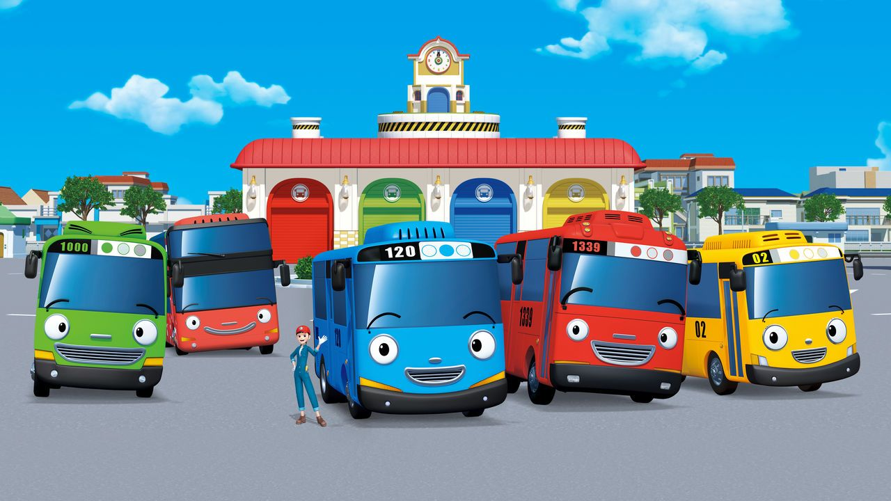 As They Learn Their Routes Around The Busy City Tayo And His Little Bus Friends Discover New Sights And Go On Exciting Adventures Every Da Kartun Mobil Gambar