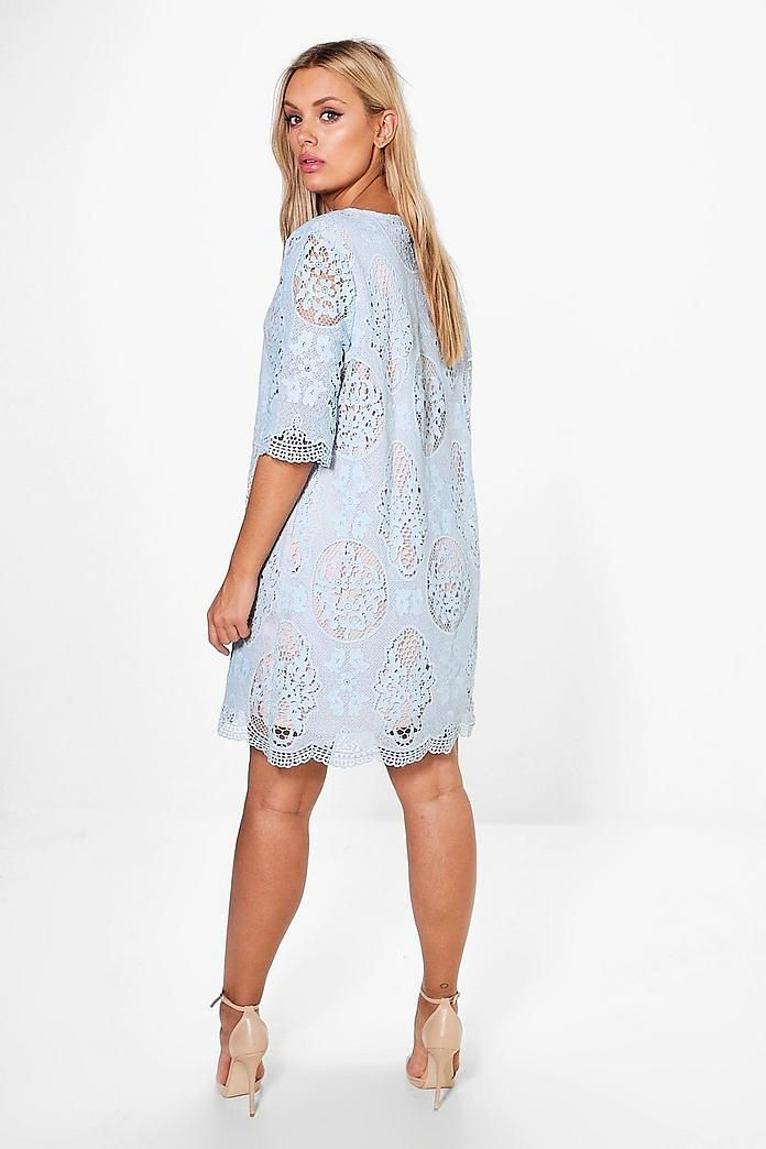 plus all over lace shift dress  boohoo  give her a whirl
