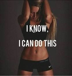 I know, I can do this.
