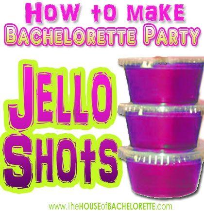 How to make a Bachelorette Party Jello Shot