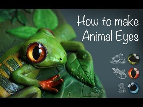bbb7e3f8f348 DIY  AMAZING ANIMAL EYES - from glass cabochons - YouTube